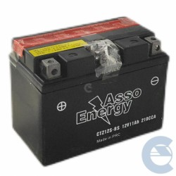 Asso Energy CTZ12S-BS 12V...